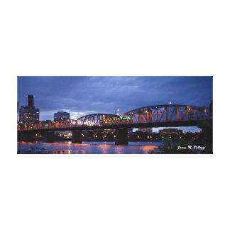 8 x 20.31 Hawthorne Bridge Portland, Oregon Canvas Print