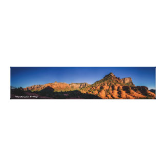 8 X 36.8 Sunset in Sedona Gallery Wrap Canvas