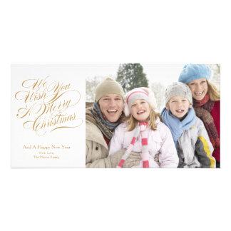 8 x 4 We Wish You A Merry Christmas   Photocard Customized Photo Card