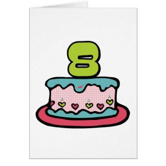8 Year Old Birthday Cake Card