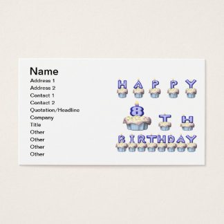 8 Year Old Business Card