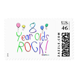 8 Year Olds Rock Postage Stamps
