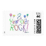 8 Year Olds Rock ! Postage Stamps