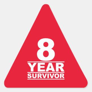 8 year survivor triangle sticker