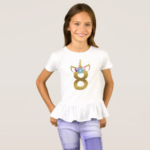 8 Years Old Unicorn Birthday Girl For Kids T Shirt
