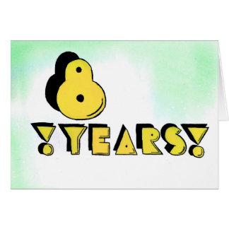 8 Years Sobriety Birthday / Anniversary Card