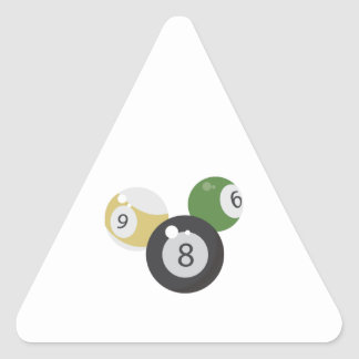 8Ball Base Triangle Stickers