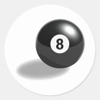 8ball classic round sticker