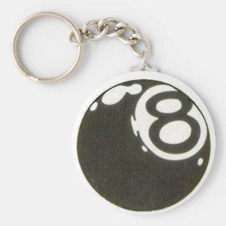 8ball key keychain