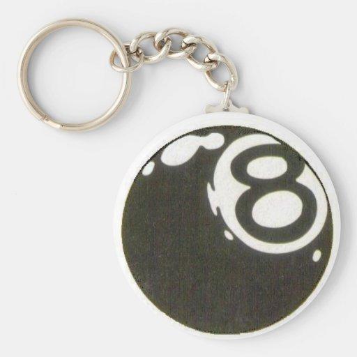 8ball key keychains