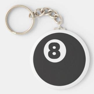 8ball - Modificado para requisitos particulares Llavero Redondo Tipo Pin