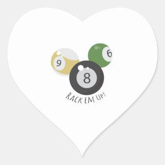 8Ball Rackem Pegatina En Forma De Corazón