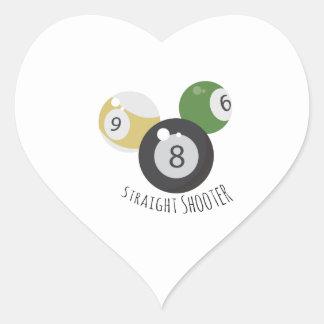 8Ball StraightShooter Pegatina En Forma De Corazón