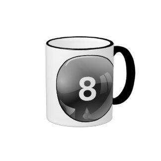 8ball taza de dos colores