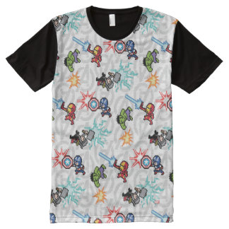 8Bit Avengers Attack All-Over-Print T-Shirt
