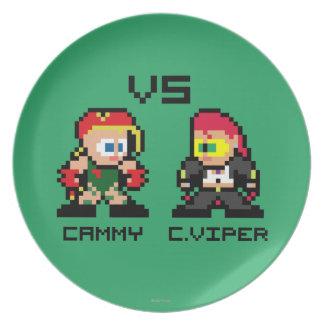 8bit Cammy CONTRA C.Viper Platos De Comidas