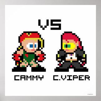 8bit Cammy VS C.Viper Poster