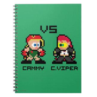 8bit Cammy VS C.Viper Spiral Notebook