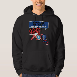 8Bit Captain America Attack - Reporting For Duty! Hoodie