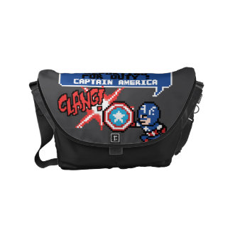 8Bit Captain America Attack - Reporting For Duty! Small Messenger Bag