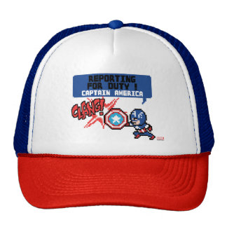 8Bit Captain America Attack - Reporting For Duty! Trucker Hat