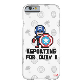 8Bit Captain America - Reporting For Duty! Barely There iPhone 6 Case
