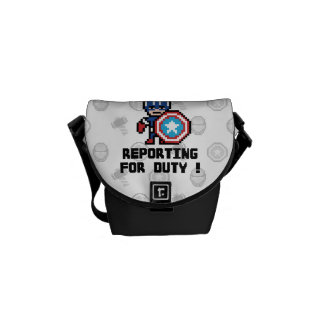 8Bit Captain America - Reporting For Duty! Courier Bag