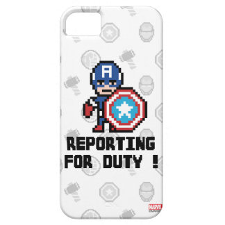 8Bit Captain America - Reporting For Duty! iPhone SE/5/5s Case