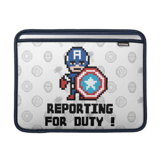 8Bit Captain America - Reporting For Duty! MacBook Sleeve