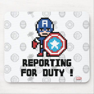 8Bit Captain America - Reporting For Duty! Mouse Pad