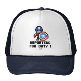 8Bit Captain America - Reporting For Duty! Trucker Hat