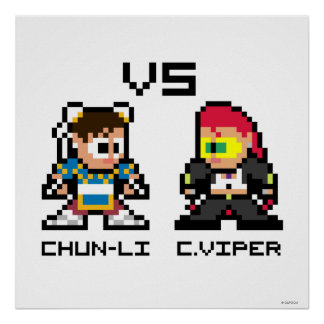 8bit Chun-Li CONTRA C.Viper Posters