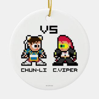 8bit Chun-Li VS C.Viper Ceramic Ornament