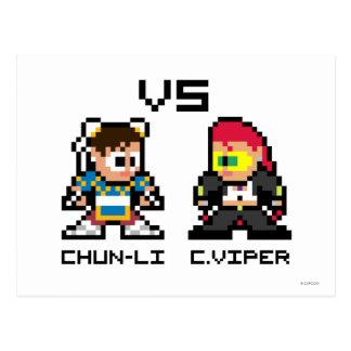 8bit Chun-Li VS C.Viper Postcard