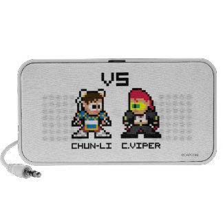 8bit Chun-Li VS C Viper Notebook Speakers