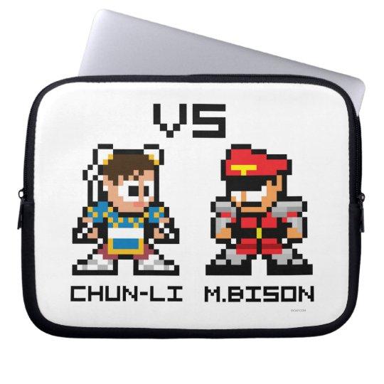 8bit Chun-Li VS M.Bison Computer Sleeve