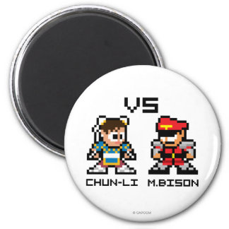 8bit Chun-Li VS M.Bison Magnet