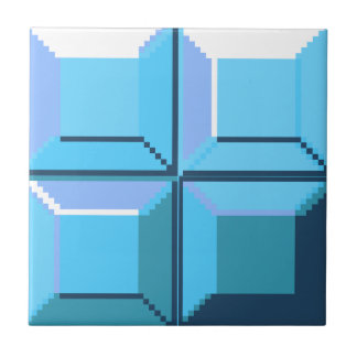 8bit Cyan Pixel Tile