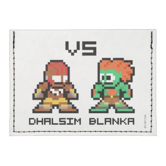 8bit Dhalsim VS Blanka Tyvek® Card Case Wallet