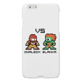 8bit Dhalsim VS Blanka Glossy iPhone 6 Case