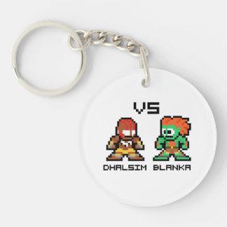 8bit Dhalsim VS Blanka Keychain