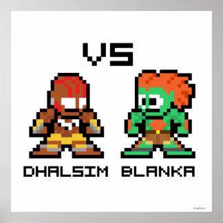 8bit Dhalsim VS Blanka Print