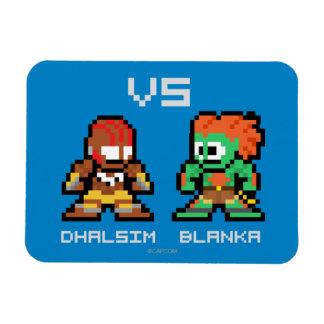 8bit Dhalsim VS Blanka Rectangular Magnet