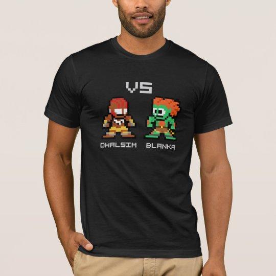 8bit Dhalsim VS Blanka T-Shirt