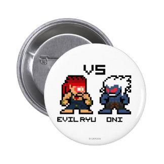 8bit Evil Ryu VS Oni Button