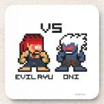 8bit Evil Ryu VS Oni Coasters