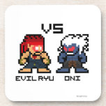 8bit Evil Ryu VS Oni Drink Coaster