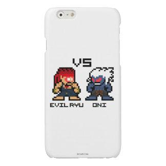 8bit Evil Ryu VS Oni Glossy iPhone 6 Case