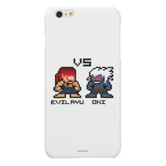 8bit Evil Ryu VS Oni Glossy iPhone 6 Plus Case