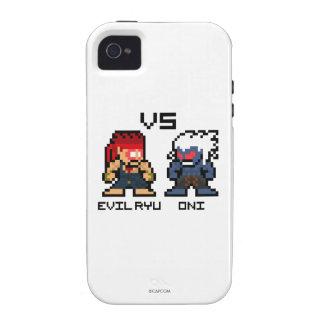 8bit Evil Ryu VS Oni iPhone 4 Cover